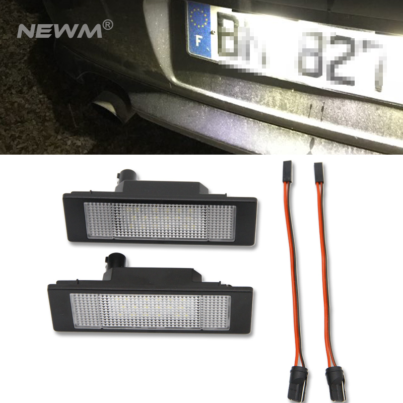 2pcs 12V 6500K Car LED License Plate Light 3528 SMD Number Plate Lamp Bulb for BMW E87 E81 E63 E64 E85 E86 urbanroad 2x 12v 3528 smd car led number license plate lights for bmw e46 4d 323i 325i 328i white led plate lamp bulb kit 6000k