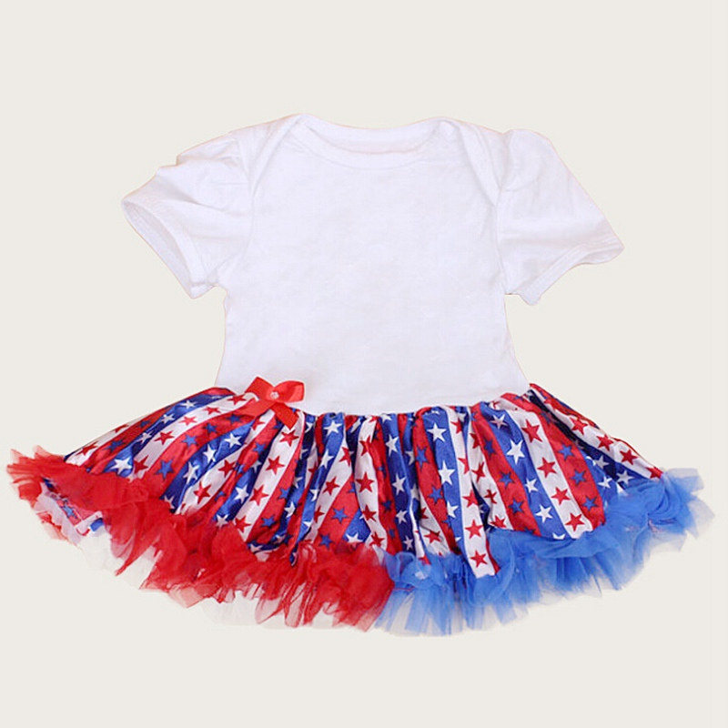76146dc92918 4th Of July Romper Kids Jumpsuits Bebe 2018 Toddler Girl Dresses Lace Petti Rompers  New Born Baby Girls Clothes Infant Clothing