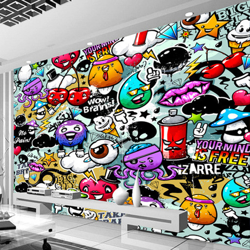 Photo Wallpaper Modern 3D Graffiti Mural Kids Bedroom KTV Bar Creative Wall Decor Art Wall Papers For Walls 3 D Papel De Parede