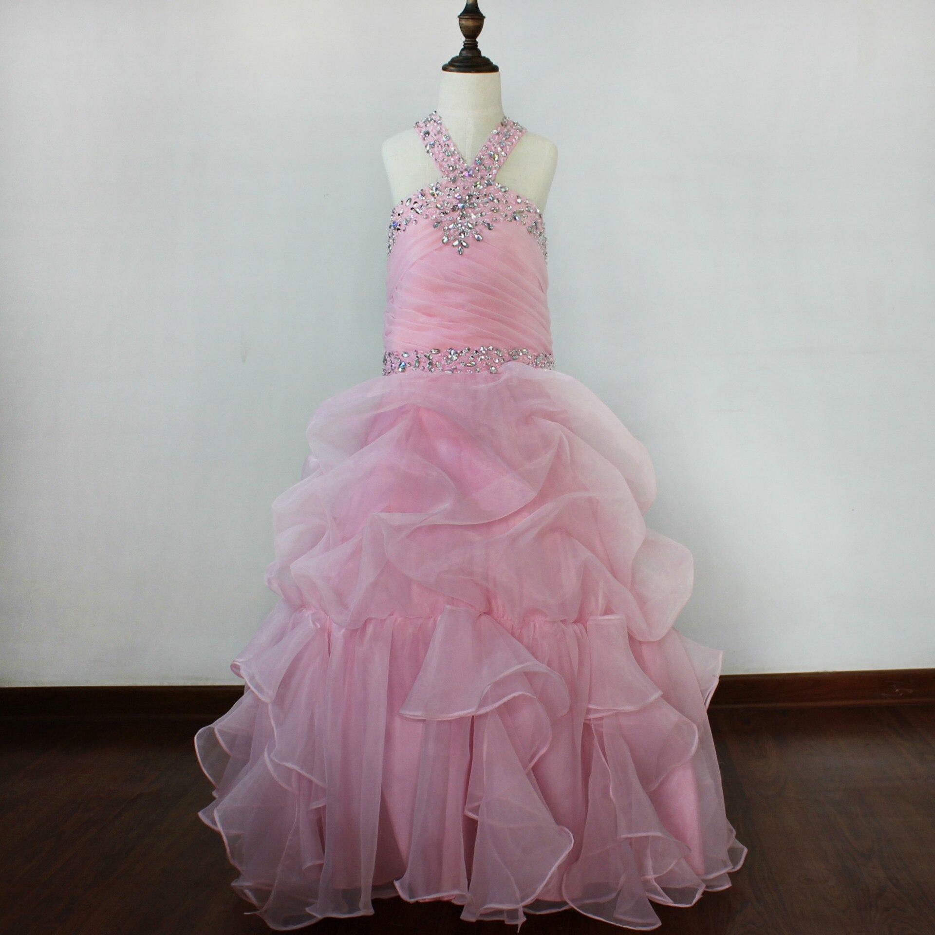 C025 European and American New Fashion children flower Dress wedding Party Princess Dress girl Ball gown Dress muqgew new fashion 2018 children party