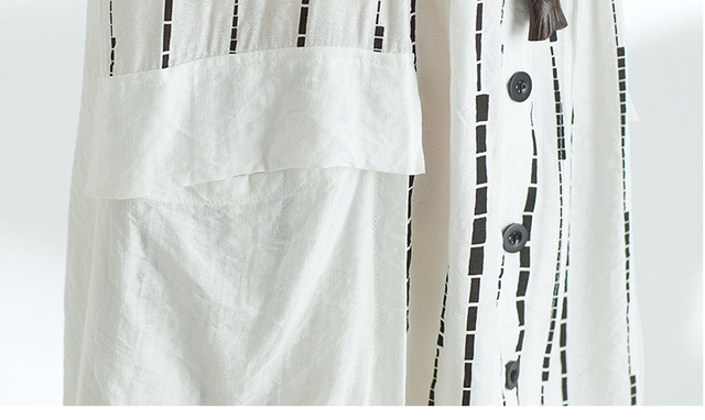 Quirky Lagenlook Asymmetrical hem Big Pockets Casual Flax A-Line Dress 2018 Plus Size Cotton&Linen Tunic Dress Summer Vestidos 5