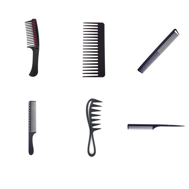 מקצועי שיער מסרק קשה פחמן שטוח ראש בתמיסה שטוח ראש אנטי סטטי חיתוך קומבס לסלון סטיילינג כלי
