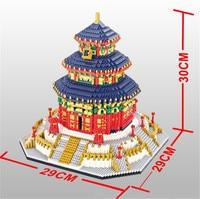 2019 международно известная архитектура Китай Храм Неба в Пекине Мини DIY алмаз строительство Nano Конструкторы кирпич детские игрушки подарок