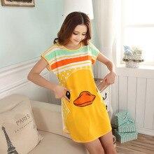 New 2016 Women Loose Nightgowns Sleepshirts Sleepwear Cute Girl's Underwear Nightdress Sleep Lounge Womens Nightwear