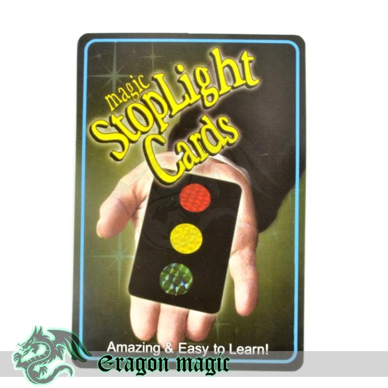 Stoplight Ändra barn Magic Tricks Gratis frakt Magia Trick Toy Stäng upp Easy Fun Magie