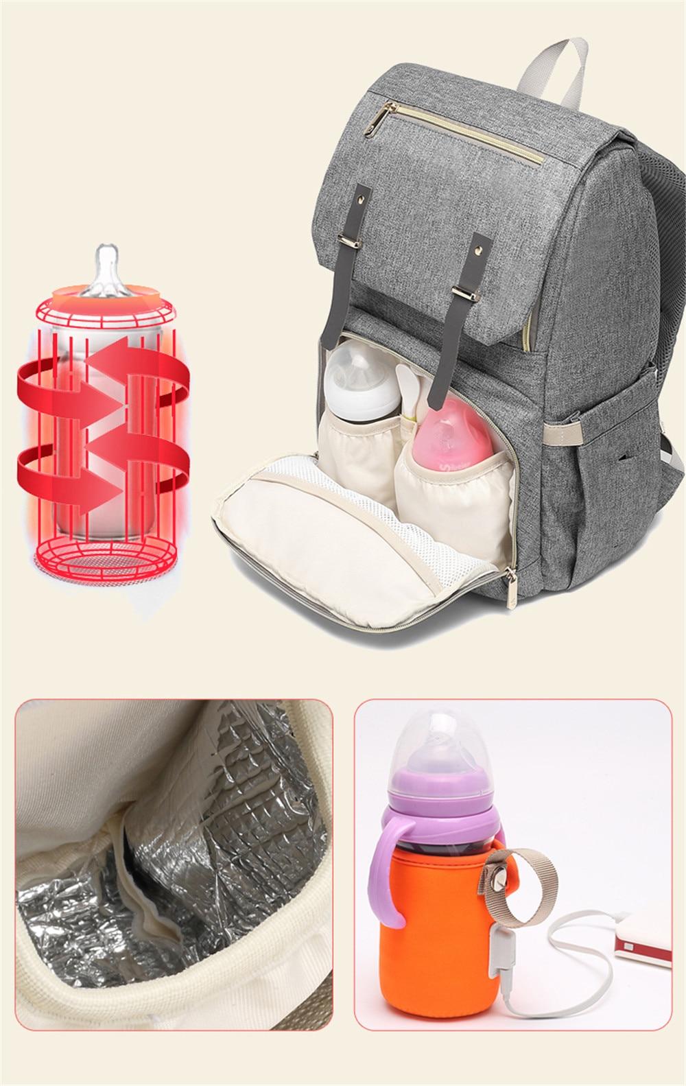HTB1jDsnao rK1Rjy0Fcq6zEvVXaP Fashion Large Capacity Baby Nappy Bag Diaper Bag Purse Multifunction USB Mummy Travel Backpack Women Nursing Bags For Mom Daddy
