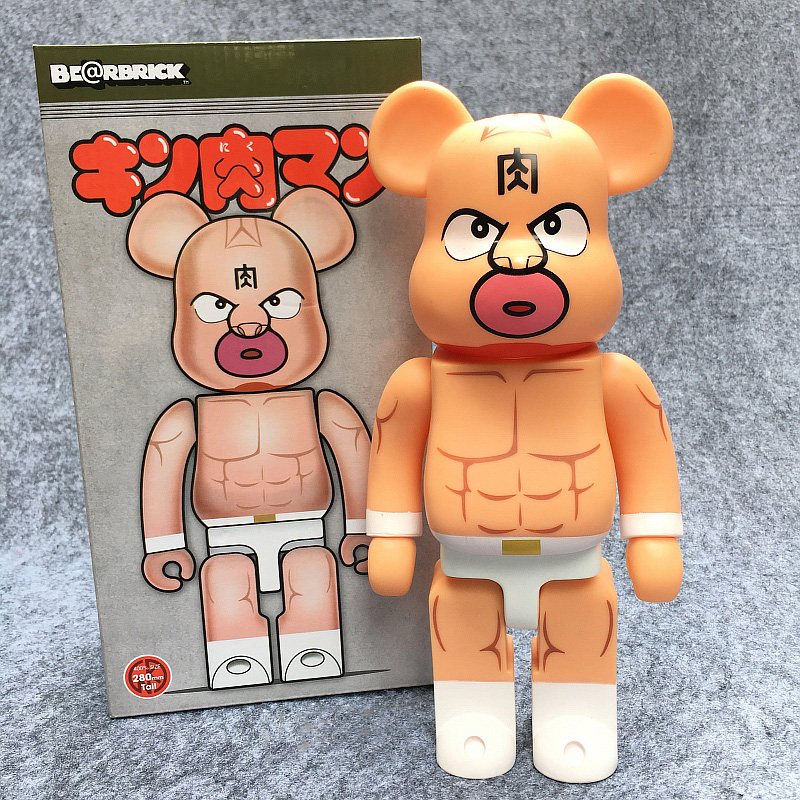 New Arrival Bearbrick Action Figure 400% Be@rbrick Cos Kinnikuman Muscle Tag Match Doll PVC ACGN figure Toy Brinquedos Anime new arrival be rbrick bear bearbrick pvc action figure toy 52cm vinyl art figure as a gift for boyfriends