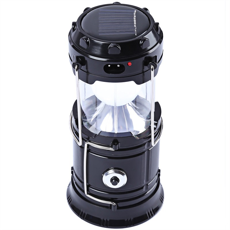 7-LED Rechargeable Solar Camping Lantern LED Torch Flashlight Cycling Tent Lights for Outdoor Lighting Hiking EU Plug 2018
