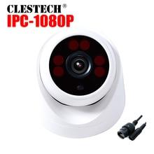 ONVIF HD CCTV IP Camera Hi3518E 1080P 720P Super wide Angle 2.8MM Dome Indoor 6PCS ARRAY LED Night vision P2P Internal XMEYE APP цена 2017