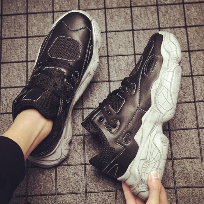 Men sneakers brand Designer platform Chunky sneakers men sneakers lace up shoes vulcanized shoes tenis masculino K4-19