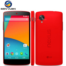 "Original LG Nexus 5 mobile phone Android WIFI GPS 5.0"" 8MP Quad-core 2GB RAM 16GB ROM D820 D821 Mobile phone cellphone(China)"