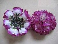 23 couleurs 15 cm/6 pouce Décorations De Mariage Soie Embrassant Pomander rose Fleurs Boules De Mariage bouquet Livraison Gratuite