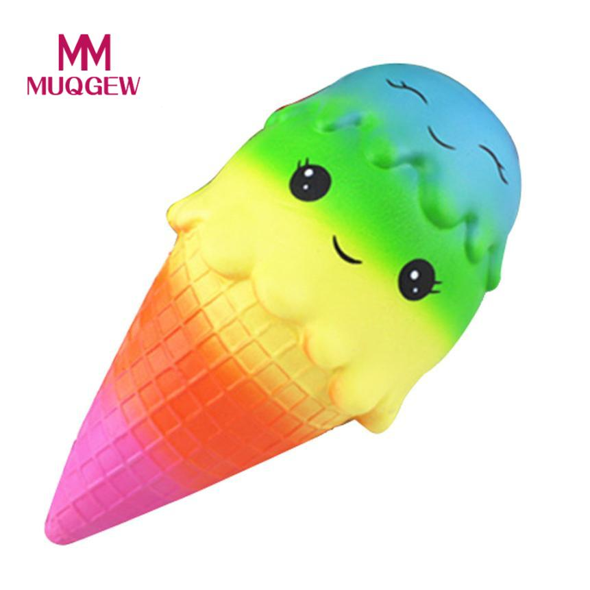 Interesting Starry Exquisite Fun Big Ice Cream kawaii squishies Scented Squishy Charm Slow Rising Simulation Kid antistress toys ...