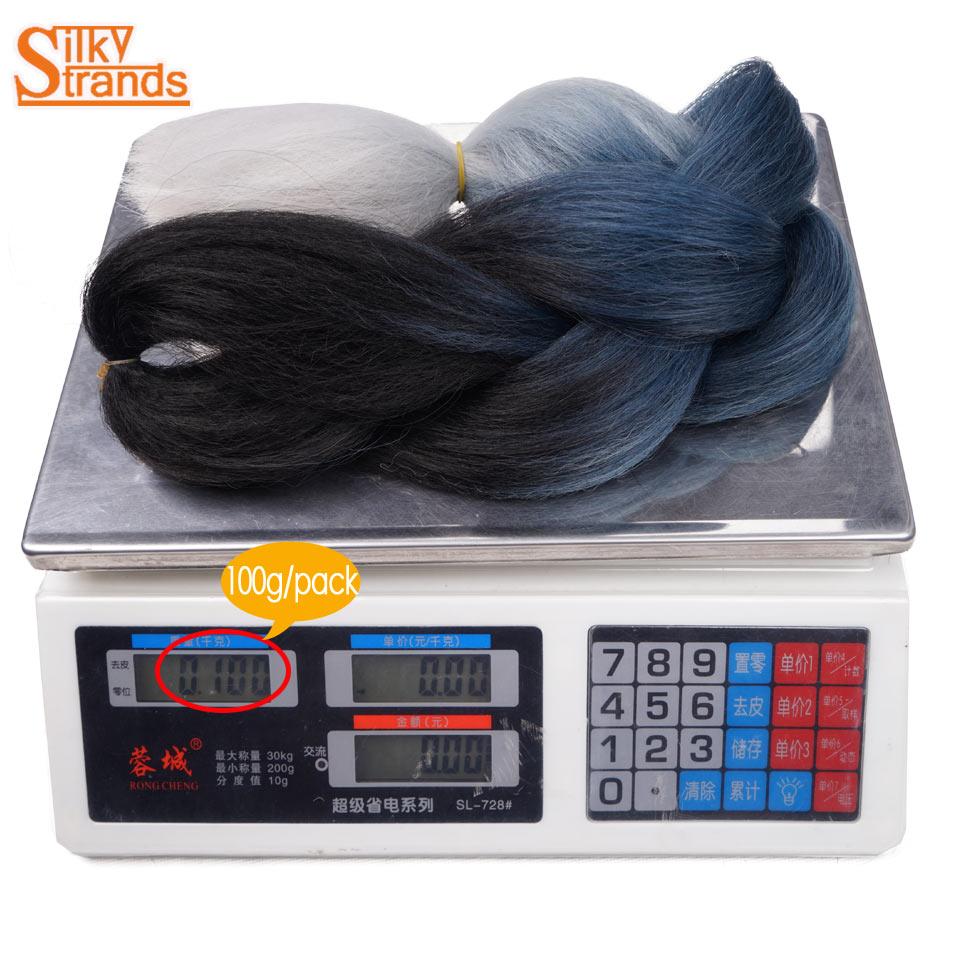 шелковистые пряди омбре канекалон наращивание волос плетением 24 дюймов 100 г химическое крючком Джамбо косы прически серый бордовый