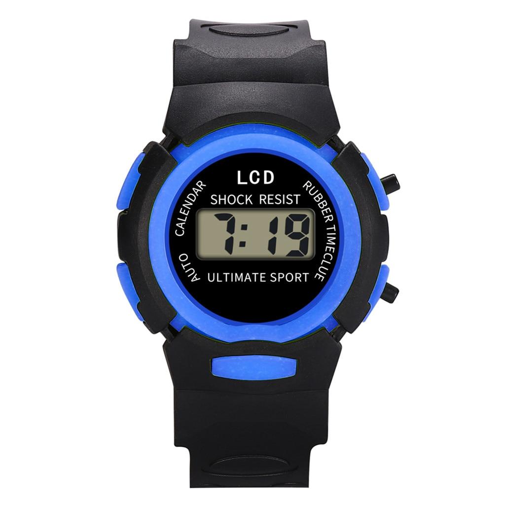 Kinderuhren Genvivia Jungen Mädchen Led Digital Sport Uhren Neue Wasserdichte Kinder Uhr Leinwand Elektronische Armbanduhr # W20