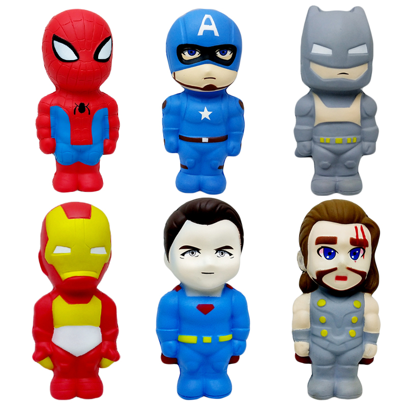 2020 Jumbo Super Hero Squishy Kawaii Slow Rising Creative Soft Bread Scented Squeeze Toy Stress Relief For Kid Birthday Gift Toy