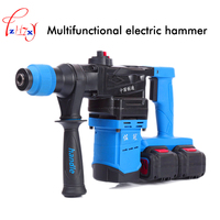 Multi function lithium electric hammer rechargeable impact drill hammer portable electric pick industrial hammer 21V+21V