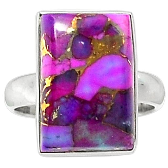 Lovegem Purple Copper Turquoise Ring 925 Sterling Silver,Size :8.5, AR1630
