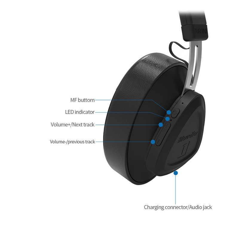 Bluedio TM אלחוטי bluetooth אוזניות עם מיקרופון צג סטודיו אוזניות למוסיקה וטלפונים תמיכת קול שליטה