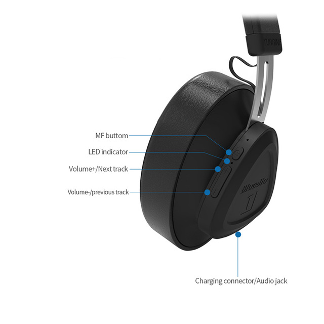 Voice Control Wireless Headphone with Microphones
