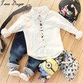 2016 Outono crianças meninos meninas conjuntos de roupas de bebê crianças casaco letras jaqueta T shirt calças meninos roupas definir