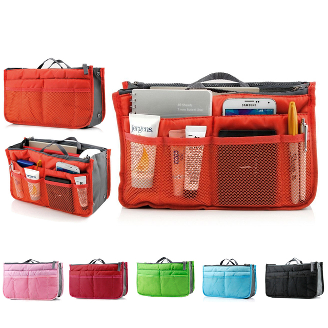 Travel Cosmetic Bag Necessaries For Women Makeup Insert Handbag Organiser Purse Large Liner Organizer Tidy