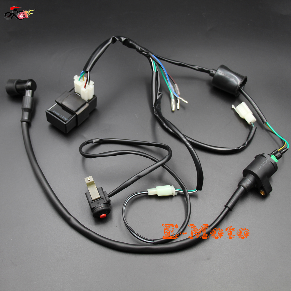 Ignition Coil CDI Electric Wiring Harness Loom Kill Switch Kits For 50 70 90 110 125 150 160cc Dirt Pit Bike New E-Moto