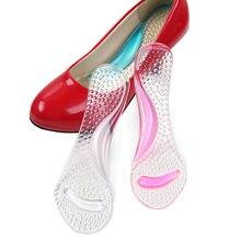 Palmilhas femininas de silicone, palmilhas ortopédicas de gel para mulheres, salto alto, pés plataforma aic88