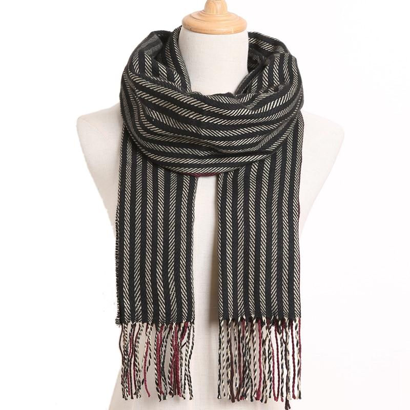 [VIANOSI] клетчатый зимний шарф женский тёплый платок одноцветные шарфы модные шарфы на каждый день кашемировые шарфы - Цвет: 52