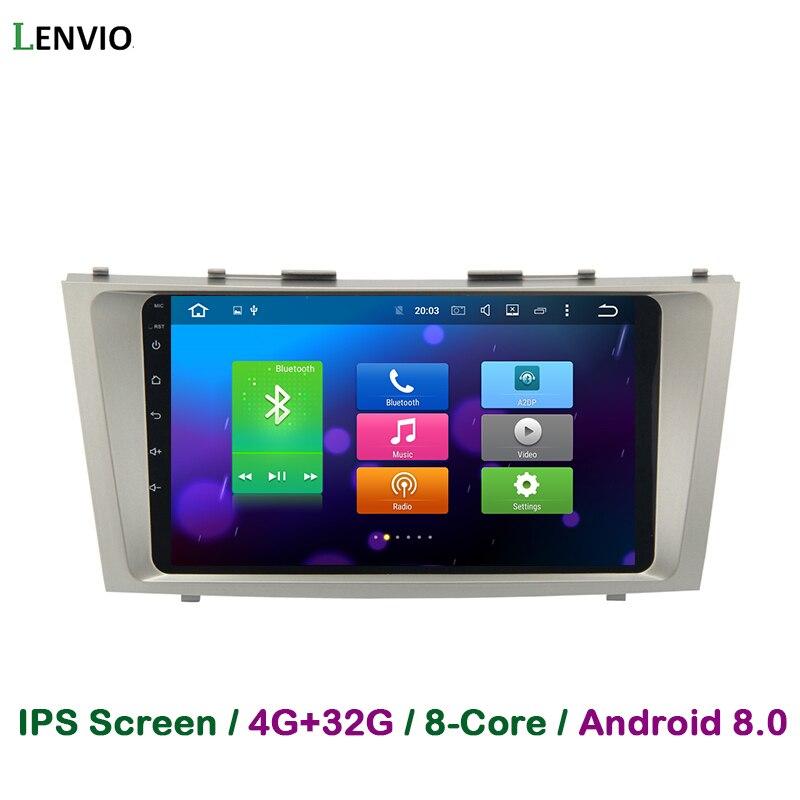 Lenvio 4 г Оперативная память 32 г Встроенная память Восьмиядерный Android 8,0 автомобиль DVD gps навигации плеер для Toyota Camry 2007 2008 2009 2010 2011 радио 3g ips