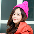 Free shipping Charming women's knitted hat autumn winter warm hat solid color ladies winter hats high quality