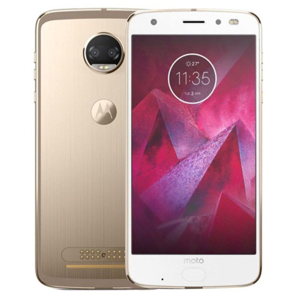 Cargadores de coche Motorola MOTO Z2 fuerza XT1789-05 4G LTE Smartphone 4 GB RAM 64 GB ROM Snapdragon 835 Octa Core 5,5 pulgadas 2 K pantalla Android 8,0