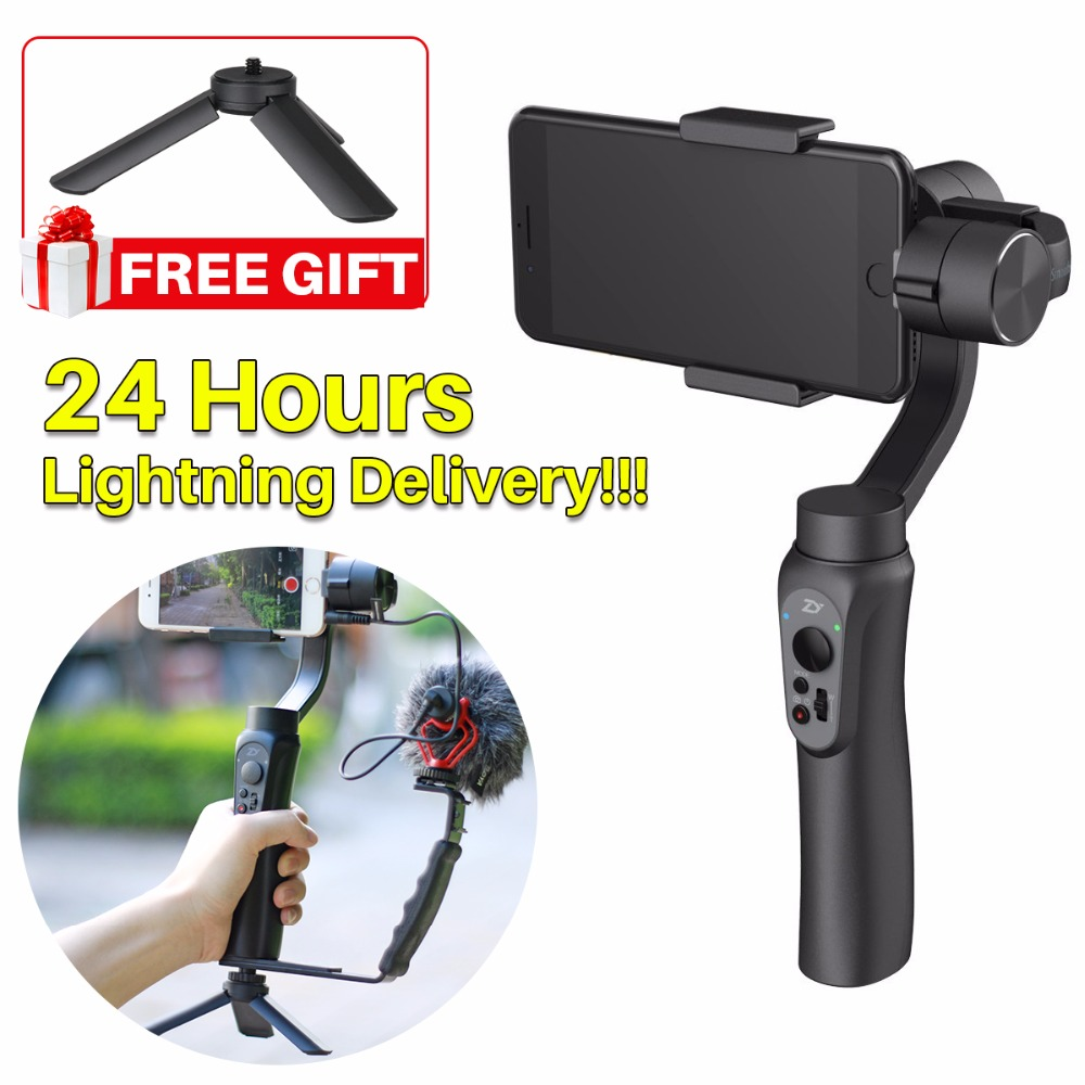 In Stock Zhiyun Smooth Q 3 Axis Handheld Smartphone Gimbal Stabilizer Portable Tripod Stand For Iphone
