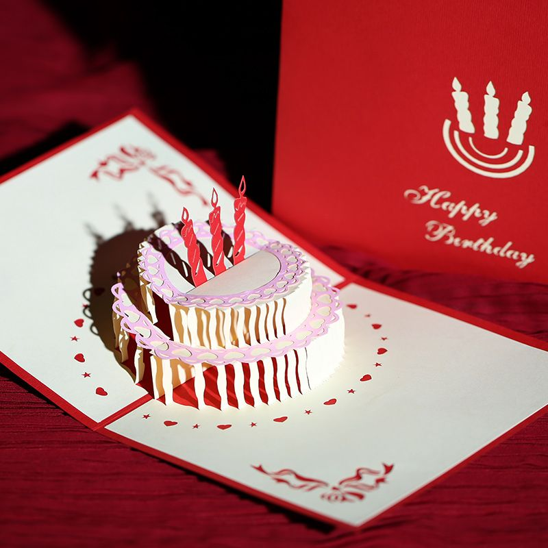 3D handmade greeting cards diy creative stereoscopic staff birthday ...