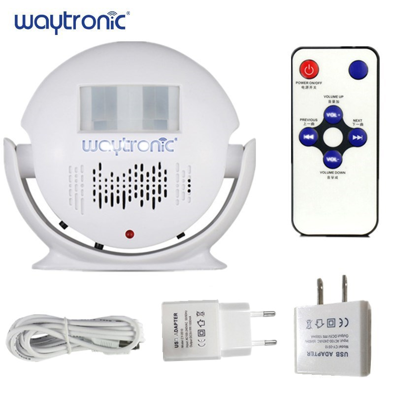 Store Shop Welcome Door Bell Chime Safety Alarm Voice Recordable Wireless Curtain Infrared Motion Sensor Detector