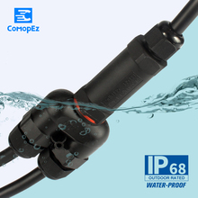 3 pin T-Type Wire Waterproof Terminal Connector Quickly Connected Sealed IP68 Retardant Junction Boxes  1PC