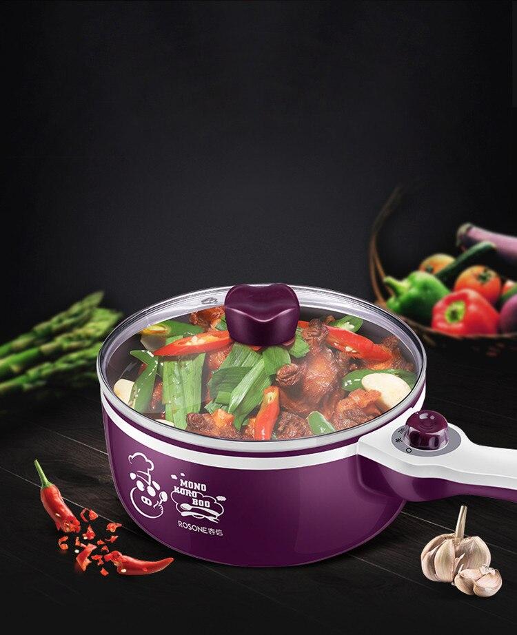 Multifunction Mini Electric Ceramic Frying Pot Frying Pan