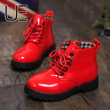 2016 Spring Autumn Fashion Kids Boots Children Synthetic Leather Waterproof Antiskid Ankle Boot Shoes Winter Boys Girls Shoe