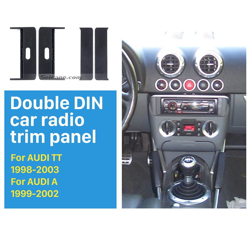 seicane exquisite 1din car radio fascia for 1998 2003 audi. Black Bedroom Furniture Sets. Home Design Ideas