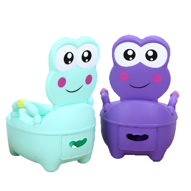 Baby Cartoon Potty Toilet Girls Boy Comfortable Portable Potty Cute Frog Drawer Training Potty Children's Toilet for Girls Baby