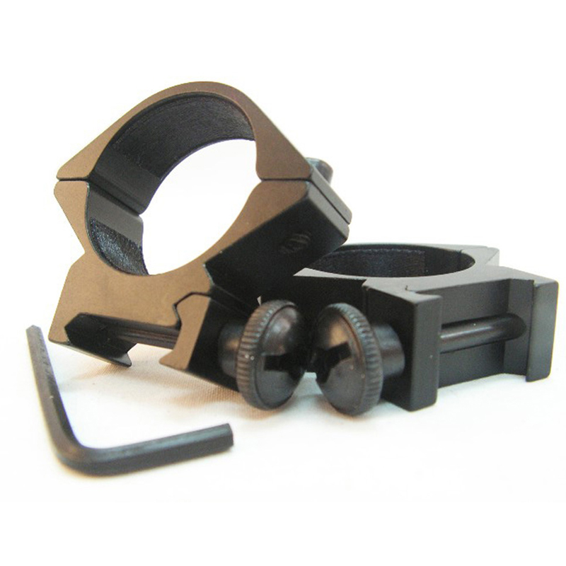 Tactical low ring 20mm railway loom weight heavy strength high for 25.4mm diameter applications and flashlight