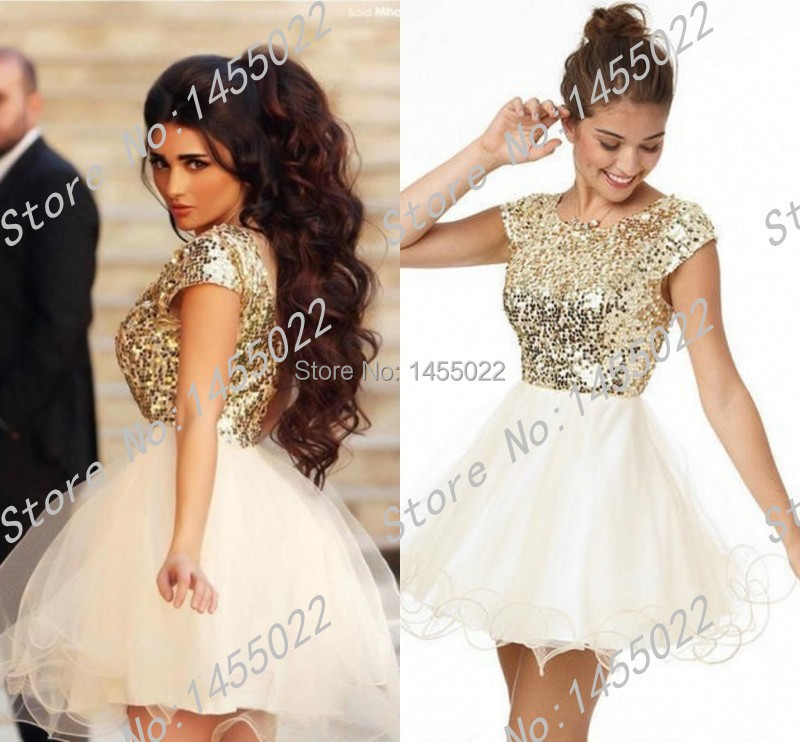 High Quality White Gold Cocktail Dress-Buy Cheap White Gold ...