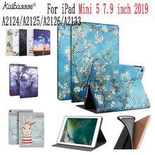 Kaibassce Tablet Smart Case Soft Silicone Print Pattern Cover for new iPad mini 5 7.9 inch A2124/A2125/A2126/A2133