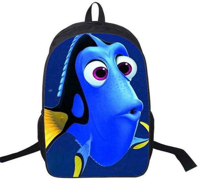 16 Inch Finding Nemo Backpack Customized Mochila Girls Boys Feminina Children Travel Bag School Bag Teenage Gift
