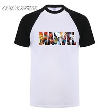 Marvel Short Sleeve T-shirt Men Superhero print t shirt