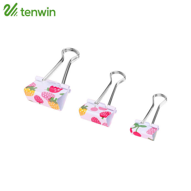 TENWIN Binder Clips Metal Printing Notes Letter Paper Clip Office Binding Supplies Securing Clip 14 Series
