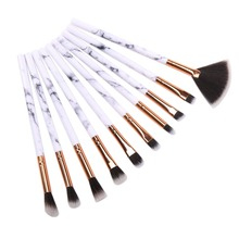New 10 pcs Marble Handle Makeup Brushes Face highlighter Eyeshadow Foudation Eye Make Up Comestic Pincel Maquiagem
