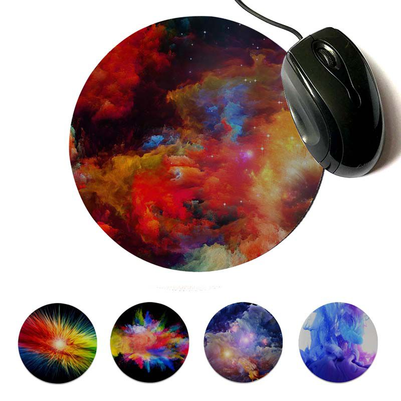 MaiYaCa New Design Color Explosion Unique Desktop Pad Game Mousepad Round mouse pad 22x22cm 20x20cm