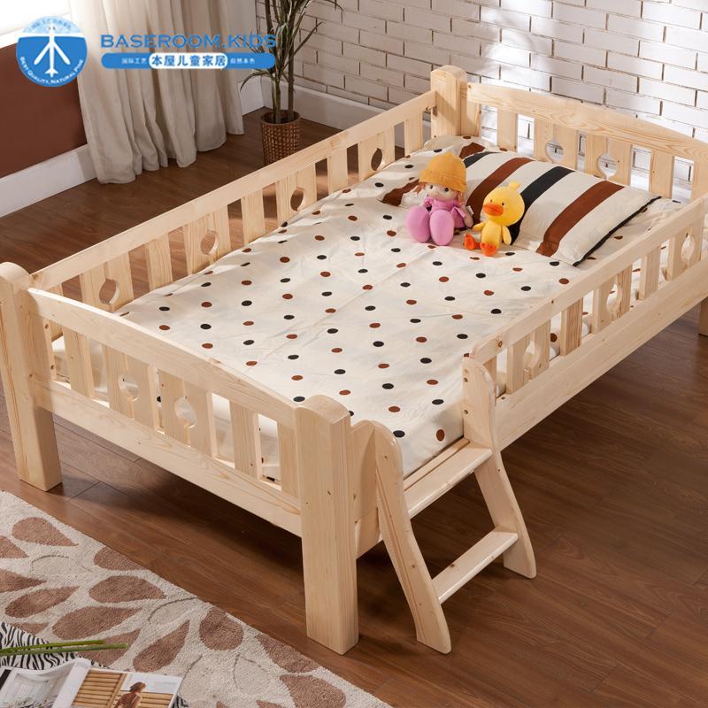 Los niños muebles de cama de madera cama de los niños con una valla ...