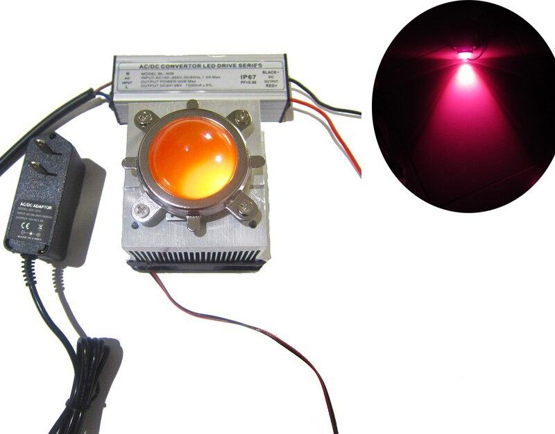 50W Full Spectrum Plant Growth Lamp LED Light+Waterproof LED Driver+Heatsink CPU Fan+Optical Lens+Fixed Bracket+Fan Power Supply